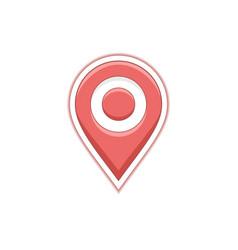 geo map pin vector image vector image