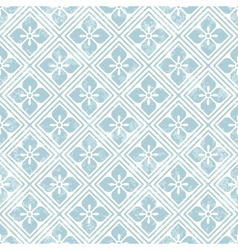 Geometric floral pattern in retro style vector image vector image