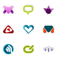 logo design elements set 58 vector image vector image
