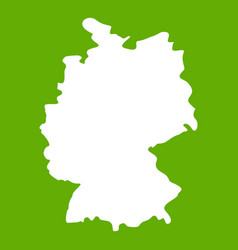 map of germany icon green vector image vector image