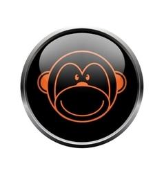 Monkey logo in a black circle vector