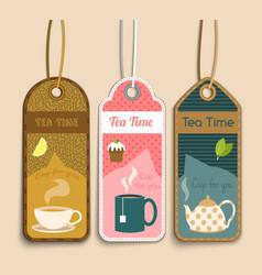 Tea labels set vector image vector image