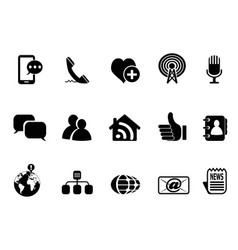 blog social media icons set vector image