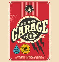 classic garage retro poster design vector image