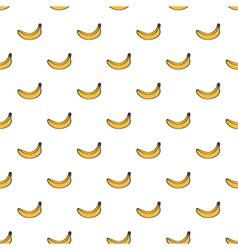 Cute yellow hand drawn banana seamless pattern vector image vector image
