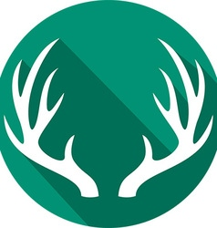 Deer Horn Icon vector image vector image