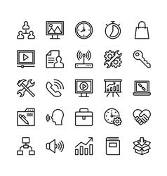 Digital marketing icons 3 vector