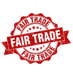 Fair trade stamp sign seal vector