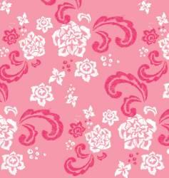 floral stitched design vector image