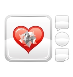 Happy Valentines day romance love heart Mosaic vector image vector image
