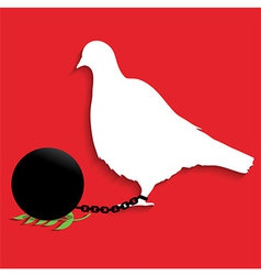 Pigeon of Peace vector image vector image