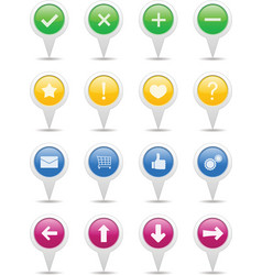 Pointers with icons vector image vector image