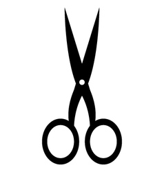 scissors on white background vector image vector image