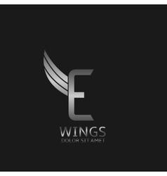 Wings E letter logo vector image vector image