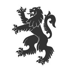 Black Roaring Lion vector image vector image