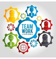 Business teamwork graphic vector