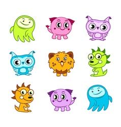 Cartoon funny monster kids vector image vector image