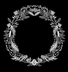 Hand Sketeched Floral Frame vector image