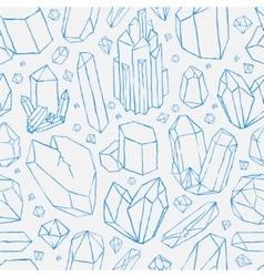 seamless pattern Hand drawn crystals vector image