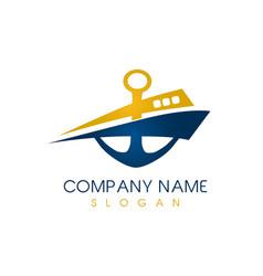 abstract boat logo vector image