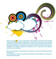 cloud art vector image vector image