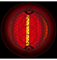 Digit 1 one Nixie tube indicator vector image vector image