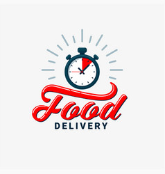food delivery design eps10 vector image vector image