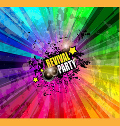 Music Club background for disco dance event vector image vector image