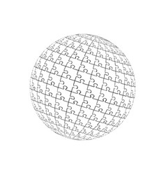 3d puzzle ball eps 10 vector image