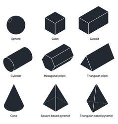 3d shape set vector
