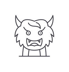 asian monster line icon concept asian monster vector image