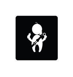 baby with seat belt icon vector image