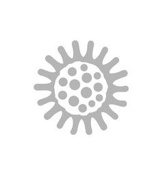 bacteria icon on white vector image