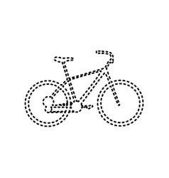 bicycle bike sign black dashed icon on vector image