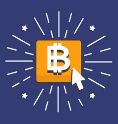 bitcoin gold button vector image
