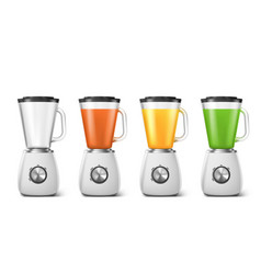 blender electric mixer for juice and smoothie vector image