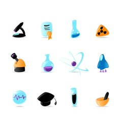 Bright science icons vector image