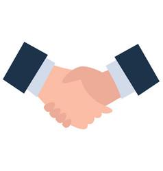 Business deal partners handshake agreement vector