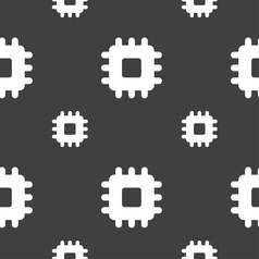Central Processing Unit icon sign Seamless pattern vector image