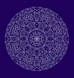 circular lace ornament vector image
