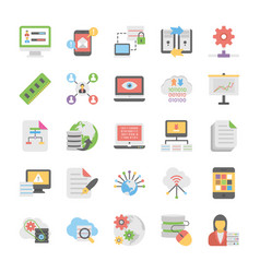 Cloud computing icons set 8 vector