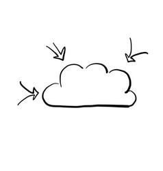 cloud with arrows cloud storage vector image