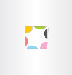 colorful abstract square business design element vector image