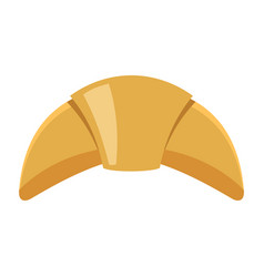 Croissant colorful bakery product icon vector