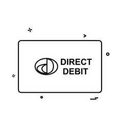 direct debit card design vector image