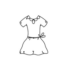 Dotted shape fashion girl dress to ballet vector