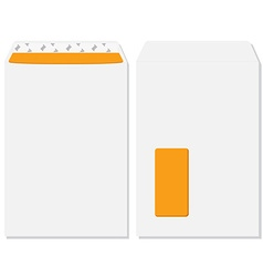 Envelope front and back view vector