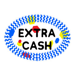 Extra cash stamp on white vector