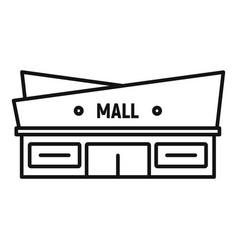 Facade mall icon outline style vector