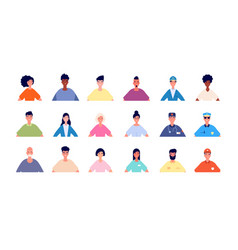 Face users picture profile people avatars vector